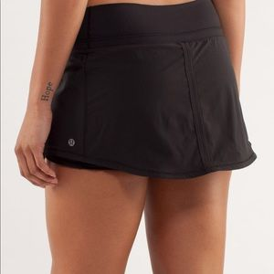 Lululemon Pace Skirt Shorts Black Sz 8